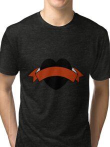 Black heart Tri-blend T-Shirt