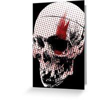 Trash Polka Skull  Greeting Card