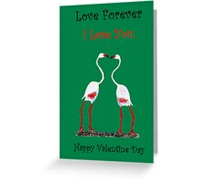 Bird In Love Valentine Day Special Greeting Card