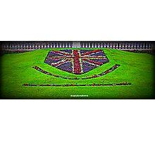 Union Jack Flowers Photographic Print