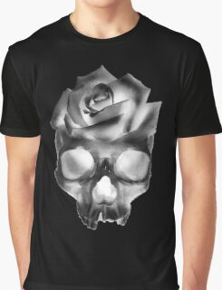 Negative Skull Rose  Graphic T-Shirt