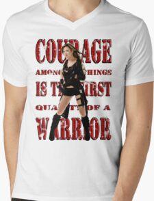 Courage Mens V-Neck T-Shirt