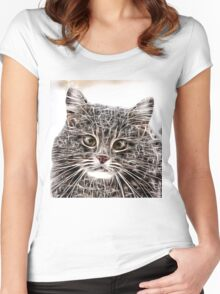 Wild nature - pussy #6 Women's Fitted Scoop T-Shirt