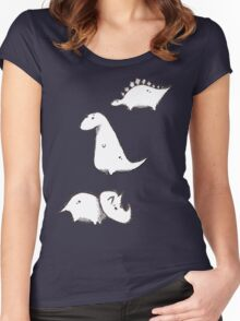Dino Doodles Collection Women's Fitted Scoop T-Shirt
