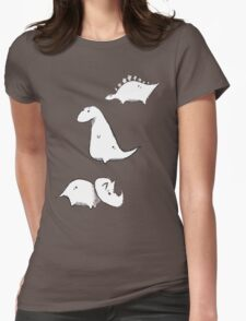 Dino Doodles Collection Womens Fitted T-Shirt
