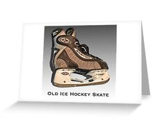 Old Ice Hockey Skate Greeting Card