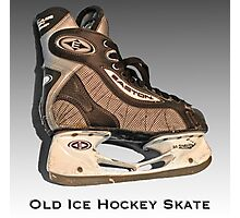 Old Ice Hockey Skate Photographic Print
