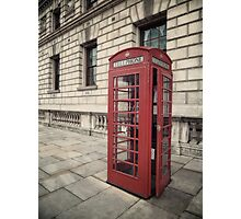 London Telephone Box Photographic Print