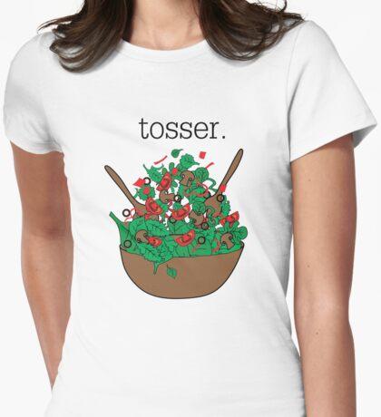 tosser. (salad)  Womens Fitted T-Shirt
