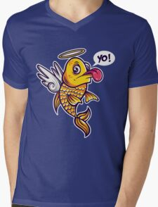 Angelic Fish Mens V-Neck T-Shirt