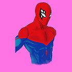 Spider-Man Alternative Suit Design Bust (Pink) by strkr241