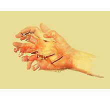 Sun hands 01 Photographic Print