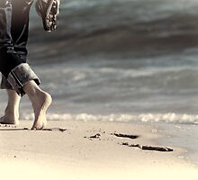 Barefoot on the Beach by Ladyshark