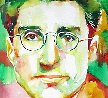 CESARE PAVESE / watercolor portrait by lautir