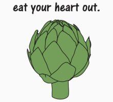 eat your heart out. (artichoke) Kids Tee