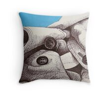 Mount Fabric Covered in Snow Throw Pillow