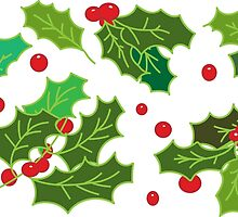 christmas holly by TimeAndTexture