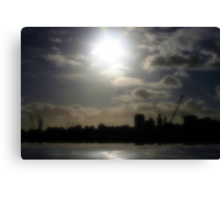Montevideo Silhouette Reflection Canvas Print
