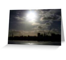 Montevideo Silhouette Reflection Greeting Card