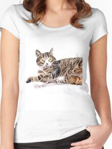 Wild nature - pussy #10 Women's Fitted Scoop T-Shirt