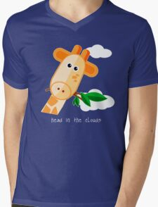 Head in the Clouds - Giraffe Design T Shirt T-Shirt