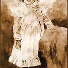 Nancy Sue *Traditional Watercolor in Sepia* by deborah zaragoza