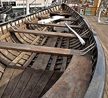 Longboat On Board The Balcutha by Scott Johnson