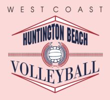Huntington Beach California Volleyball Kids Tee