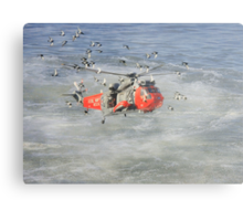 Rescue helicopter Metal Print