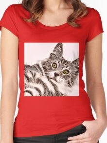 Wild nature - pussy #12 Women's Fitted Scoop T-Shirt