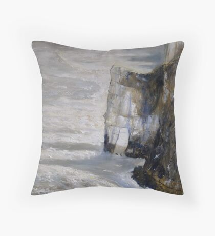 Bempton and Gannets Throw Pillow