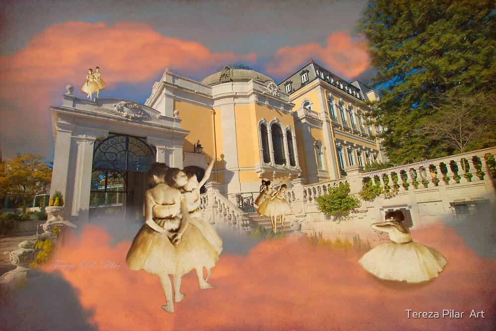 Degas ballet dancers at Vale Flor Palace in Lisbon. by terezadelpilar~ art & architecture