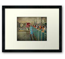 The beating of the Galata Bridge Framed Print
