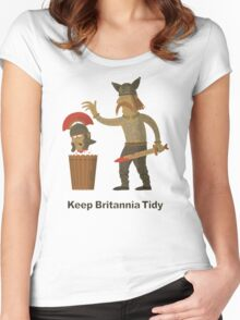 Keep Britannia Tidy Women's Fitted Scoop T-Shirt