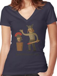 Keep Britannia Tidy Women's Fitted V-Neck T-Shirt