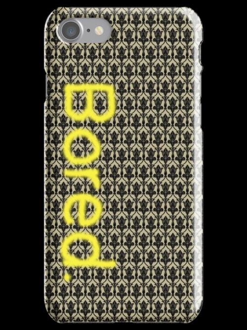 Sherlock - 'Bored.' iPhone Case by belleparole