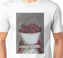 Strawberries on scale  Unisex T-Shirt