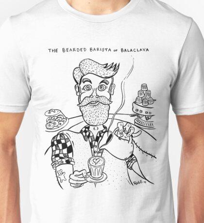 Bearded Barista of Balaclava Unisex T-Shirt