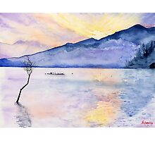 Morning Rays, Art Watercolor Painting print by Suisai Genki  Photographic Print