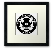 K9 Patch Framed Print