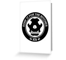 K9 Patch Greeting Card