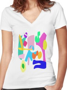Around the Well Women's Fitted V-Neck T-Shirt