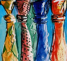 Ties to Italy *Traditional Watercolor* by deborah zaragoza