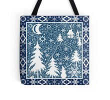 Christmas white lace ornament Tote Bag