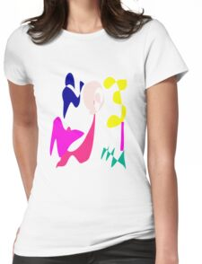 Cheerful Girl Womens Fitted T-Shirt