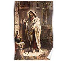 Jesus knocking Poster