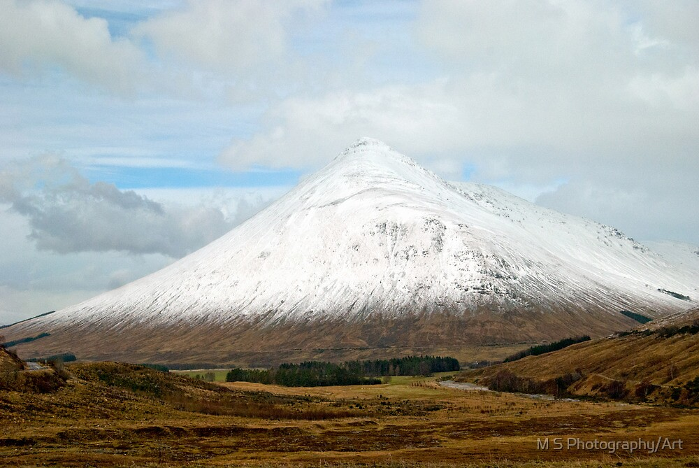 Ben Dorain Glencoe Scotland by M.S. Photography/Art