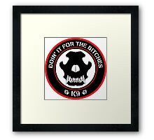 K9 Patch (Red and black) Framed Print