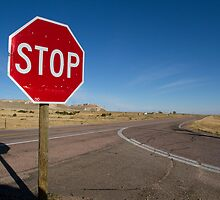 Stop Sign Nebraska  by Jessica Duley
