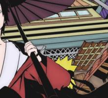 Sasuke and Naruto in Konoha Sticker
